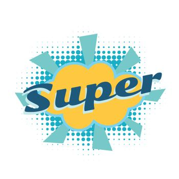 super comic word
