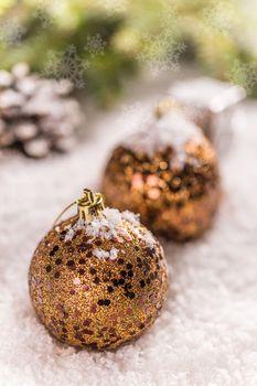 Gilded Christmas balls