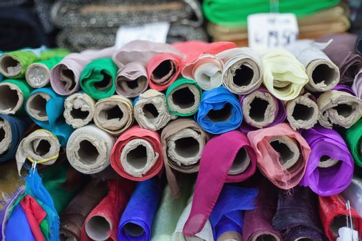 Colorful clothing material
