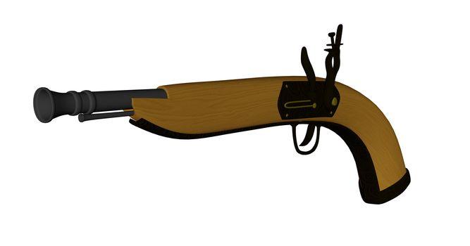 Pistole - 3D render