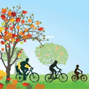 Family makes a bike trip