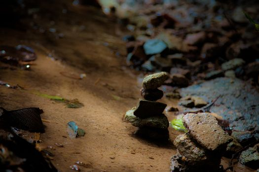 concept of balance and harmony. rocks on the nature