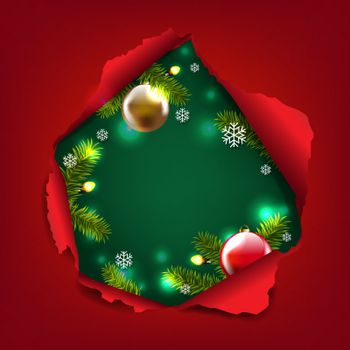 Christmas Card With Torn