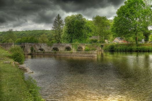 Old natural stone bridge