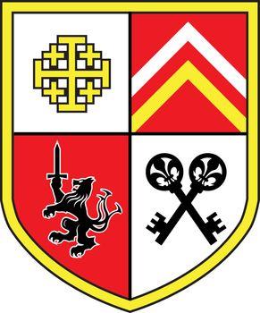 Coat of Arms Church Royal Beast vector
