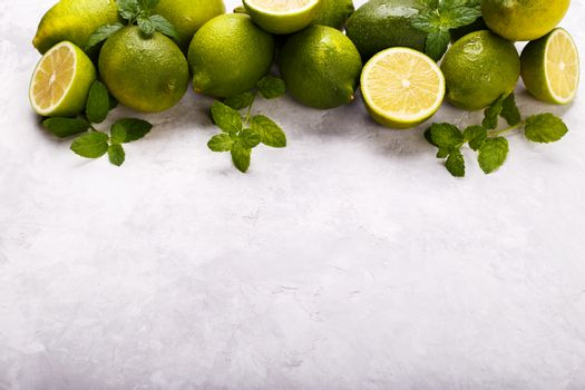 juicy lime and mint