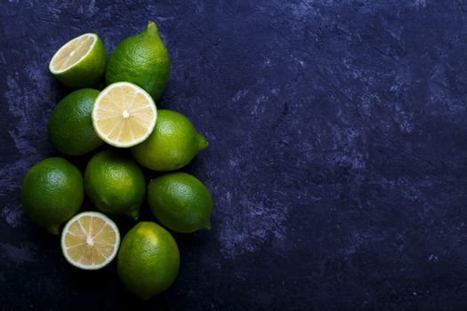 Juicy ripe limes