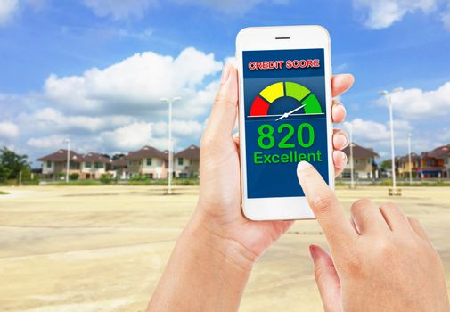 credit score for buy real estate.