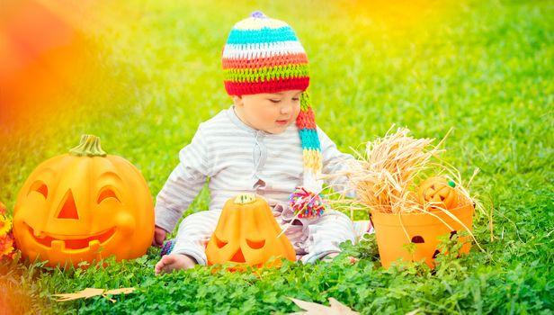 Little boy celebrating Halloween