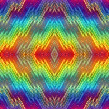 Seamless fuzzy pop art texture with optic three dimensional illusion