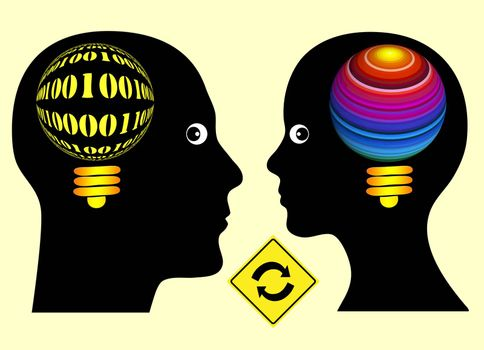 Logical and creative thinking is a successful concept for progress