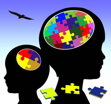 Concept sign of promoting intellectual power in early childhood education