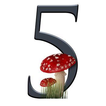 3D render of red toad number