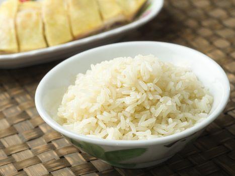 fragrant flavored hainan chicken rice