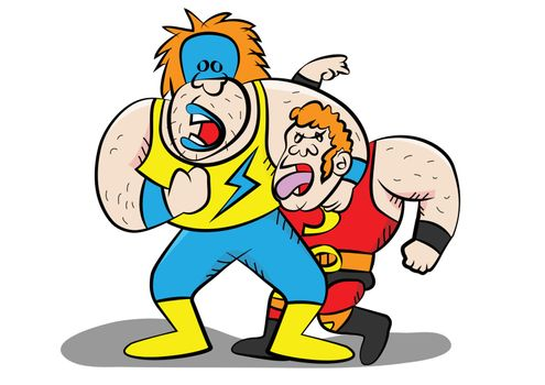 funny wrestling characters
