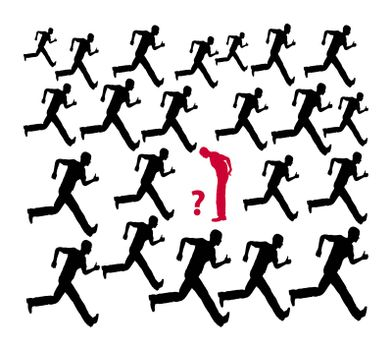 Do not follow the crowd or the common run of mankind