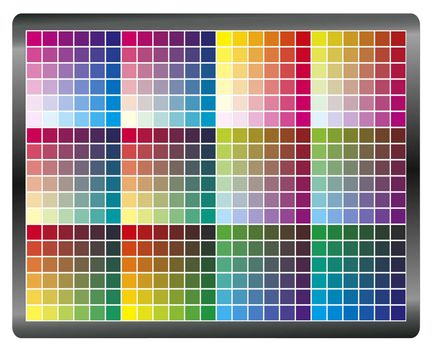 Color chart to get accurate and predictable prints