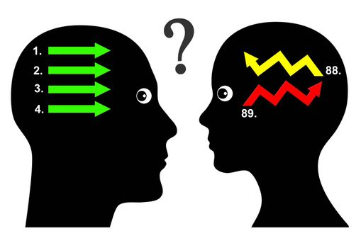 Men and women seem to communicate in different ways with different question and answer pattern