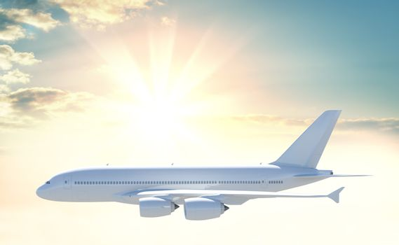 Commercial passenger airplane
