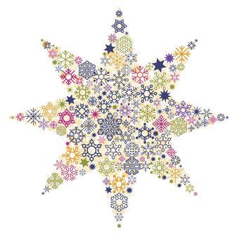 Christmas stars, snow crystals