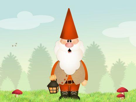 gnome with lantern
