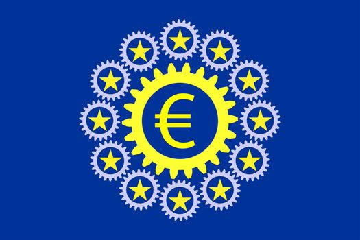 Strong Europe. Concept and symbol for a strong economic and monetary union within the EU