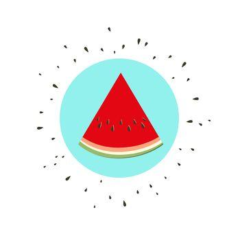 Vector illustration of watermelon. Melon fruit icon