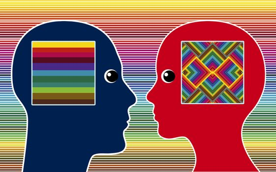 Man and women perceive colors in different intensity