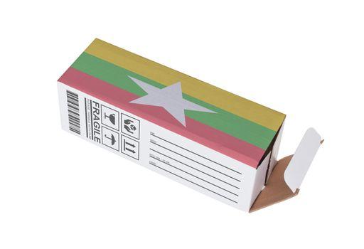 Concept of export - Product of Myanmar