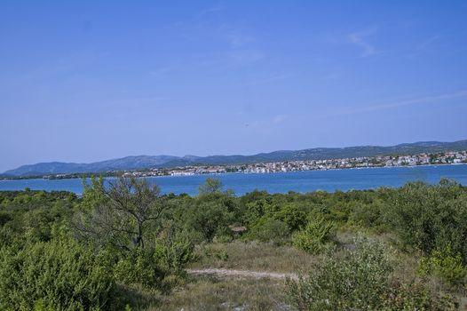 View of the coast of Murter in Croatia