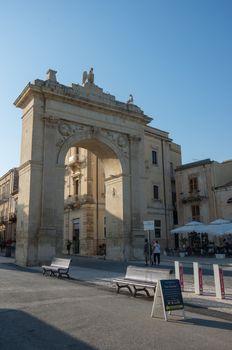 Porto Reale in Noto on Sicily. Italy