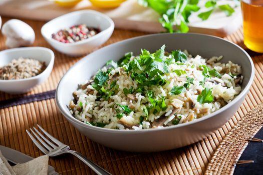 Organic Rice With Mushrooms