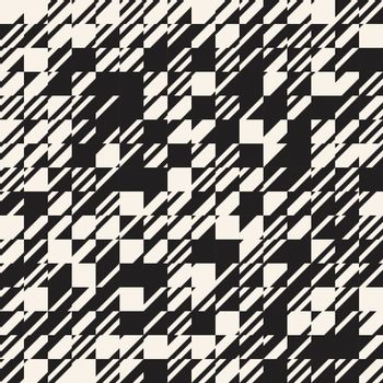 Abstract texture diagonal black and white pattern, Vector illustration