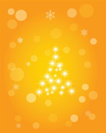 Christmas abstract background of crystal snowflakes, bright twinkling stars, highlights and sparkles. Vector illustration.