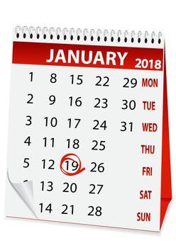 icon calendar Epiphany 2018