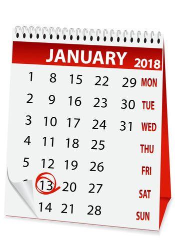 icon calendar old New Year 2018