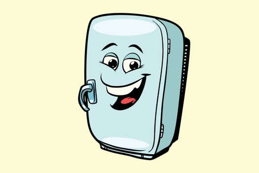 refrigerator cute smiley face character