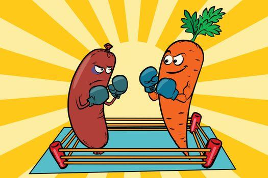 vegetarianism vs meat eating, war of the diets