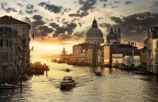 Beautiful calm sunset in Venice