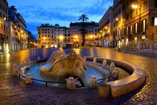 Fountain Barcaccia in Rome