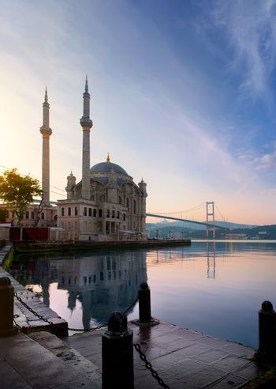 Ortakoy Mosque at dawn