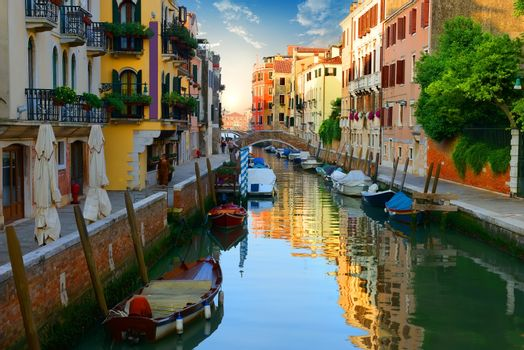 Venetian water canal Italy