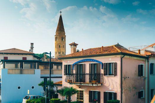 Belltower Duomo Santo Stefano in Caorle Italy