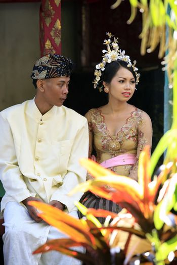 The moment of wedding ceremony of the Indonesian wedding