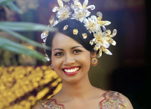 Indonesian happy bride. Bali. Indonesia