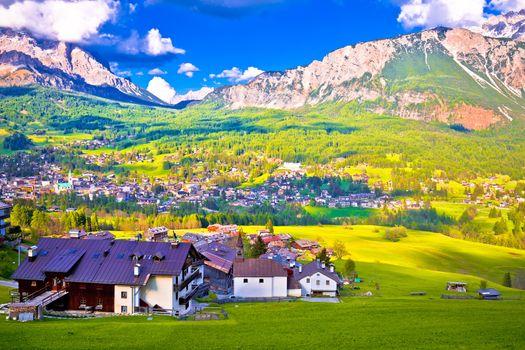 Alpne green landscape of Cortina d' Ampezzo