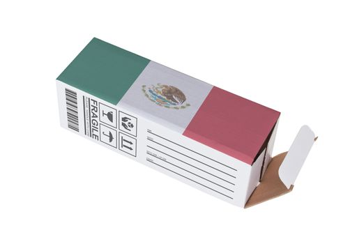 Concept of export - Product of Mexico