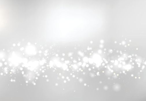 Abstract blurred soft focus bokeh of white and gray color background concept, copy space, Vector illustration