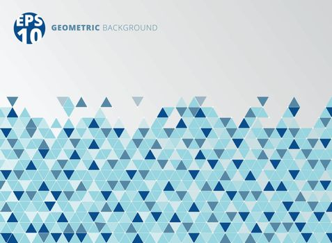 Abstract blue geometric triangle structure background. Vector illustration