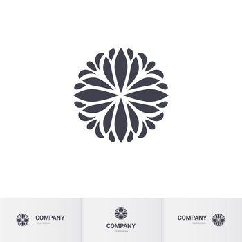 Abstract Floral Geometric Element for Circular Logo. Company Mark, Emblem, Element. Simple Geometric Mandala Logotype